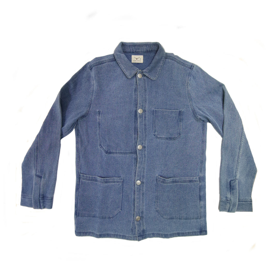 INDIGO FRENCH TWILL COVERALL (VINTAGE WASH)