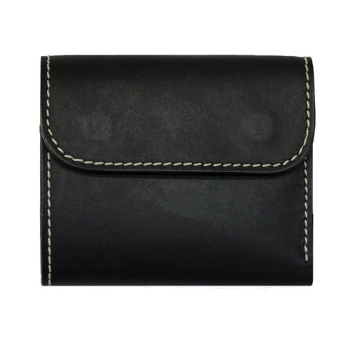 COMPACT WALLET WITH COIN SLOT <BLACK>