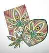 """Higher Vision"" By Alex Grey Sticker Pack"