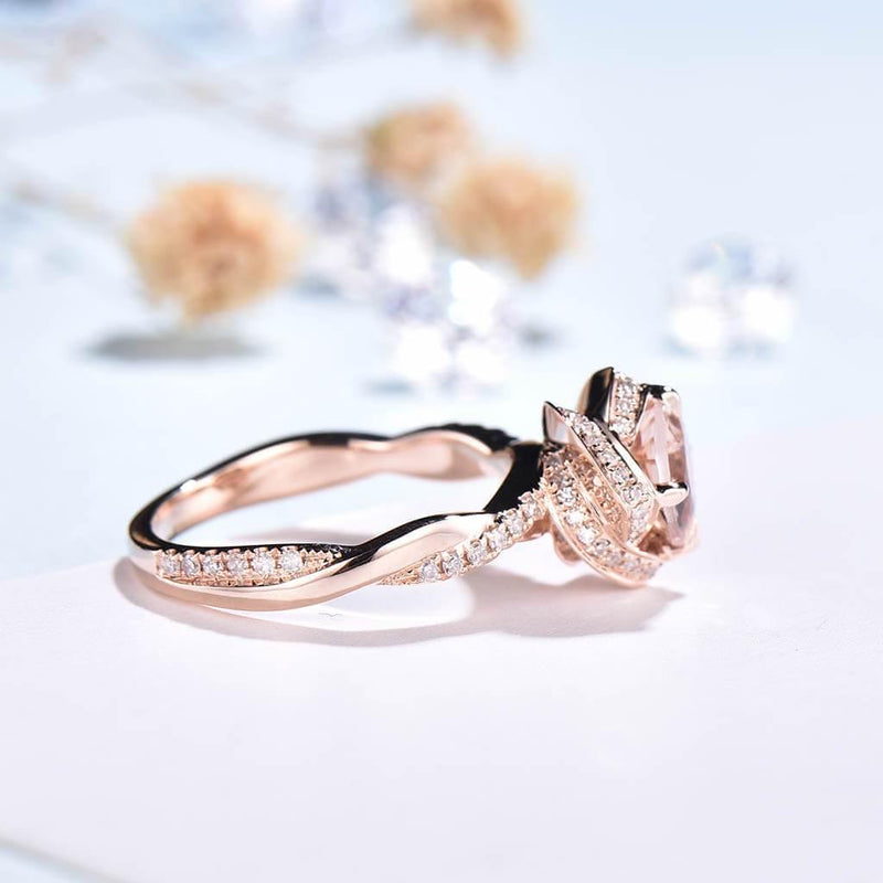 vintage morganite rings