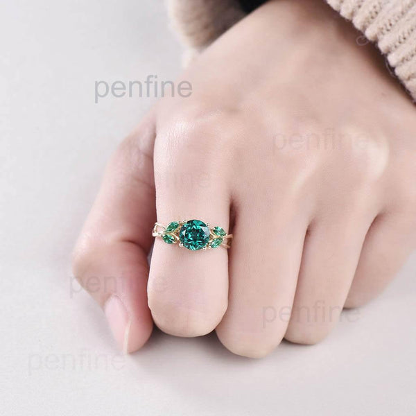 Vintage Emerald engagement ring