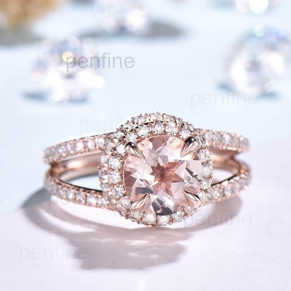 Splot Shank Morganite Engagement Ring