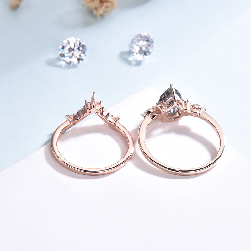wedding ring set rose gold