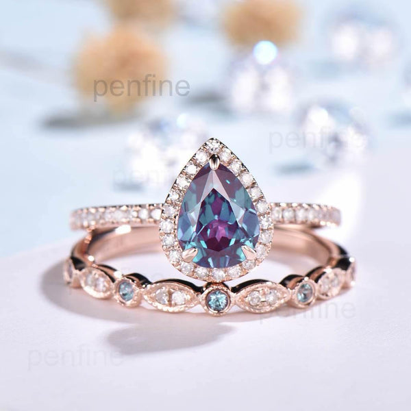 Alexandrite Bridal Set