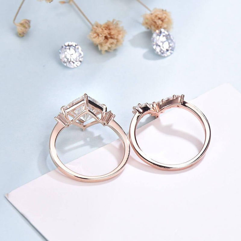 moissanite ring set