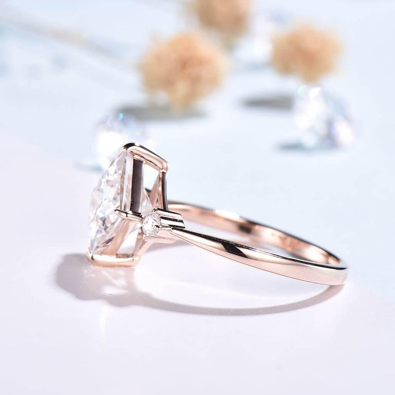 moissanite ring rose gold