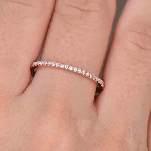 thin wedding bands with diamonds