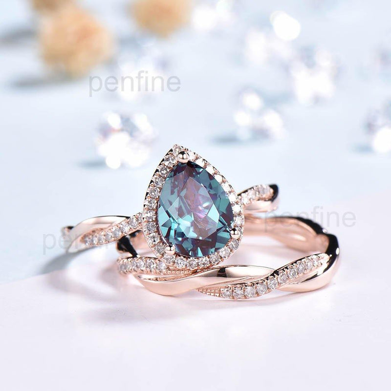 Alexandrite Wedding Set