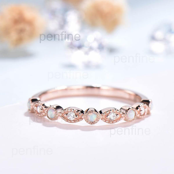 opal eternity band