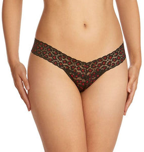 Hanky Panky Low Rise Thong - Red Leopard Cross Dye