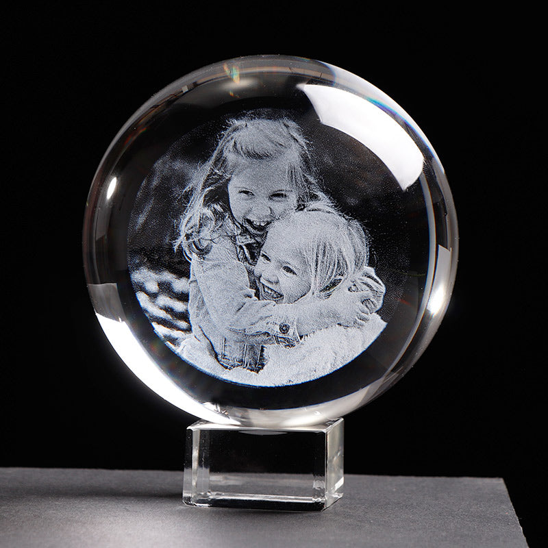 Personalized Glass Photo Frame Ball
