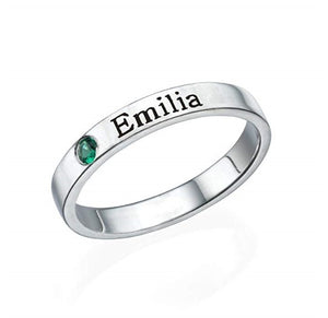 S925 ring lettering couple personalized name customization