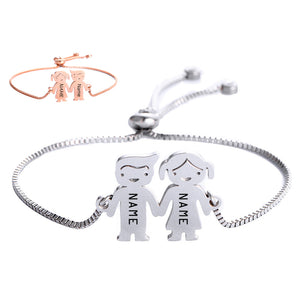 Female models delicate couple dolls fine bracelets to send lovers girlfriends with hand ceremony holiday commemorative telescopic adjustable size