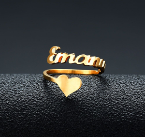 Personalized Name Ringe