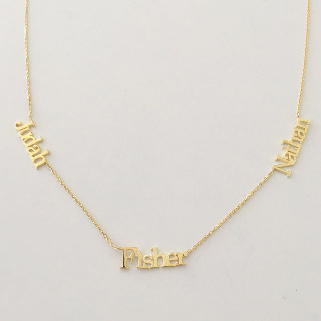 Personalized Infinitum Name Necklaces