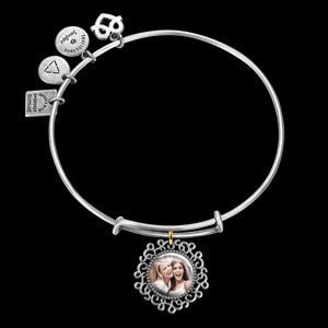 Complete Round Photo Charm Bangle Special Alloy
