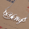 Custom Design Name Necklace S925 Sliver Necklace Word Design Gift Souvenir