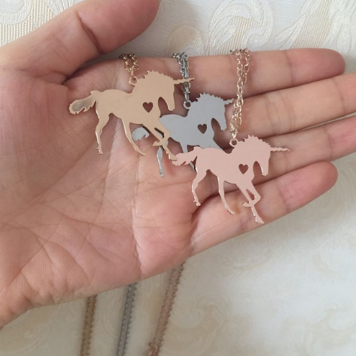 Unicorn Horse unicornio Necklace Magical Licorne