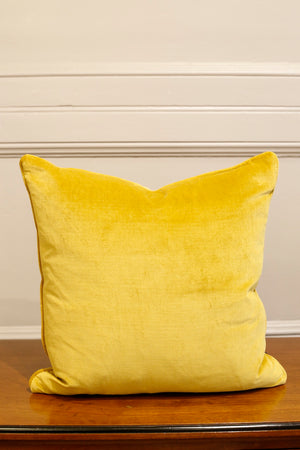 TallBoy Interiors 20inch Cushion- Vintage yellow velvet - TallBoy Interiors