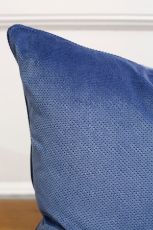 TallBoy Interiors 20inch Cushions- Blue textured velvet - TallBoy Interiors