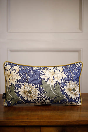 TallBoy Interiors lumber cushion- WM Blue flower - TallBoy Interiors