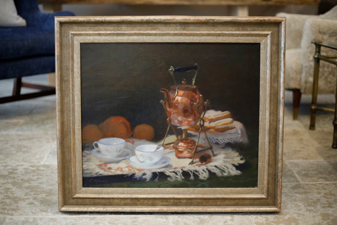 Jules Ernest Renoux Still Life oil on canvas - TallBoy Interiors