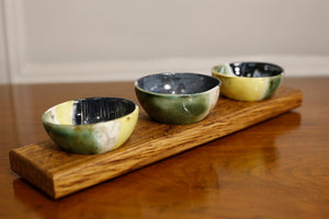 Landline trio bowl set on wood - TallBoy Interiors