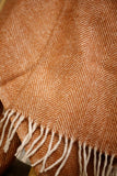 Recycled Wool Knee Blanket in Rust Herringbone - TallBoy Interiors