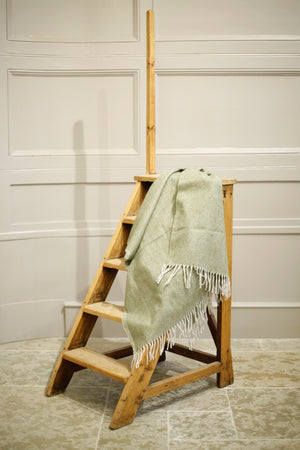 Recycled Wool Knee Blanket in Olive Herringbone - TallBoy Interiors