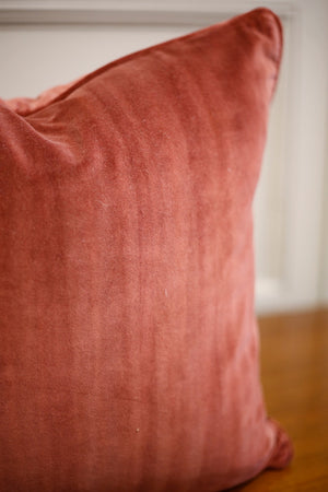 TallBoy Interiors 20inch Cushions- Rose patinated velvet