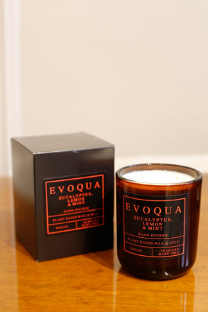 Evoqua plant based wax scented candle- Double wick 50+hour burn time - TallBoy Interiors