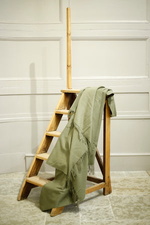 Lambswool Blanket in Olive - TallBoy Interiors