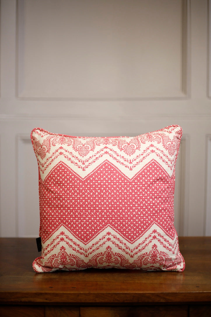 TallBoy Interiors 15inch cushion- Pink Zig Zag - TallBoy Interiors