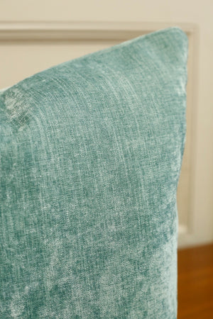 TallBoy Interiors 20inch cushion- Colefax mint velvet - TallBoy Interiors