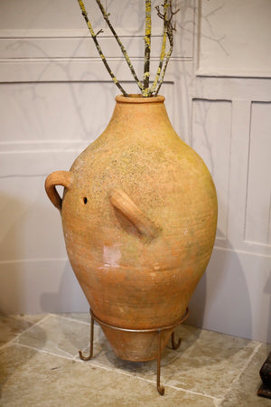 Tall double handled 19th century olive pot - TallBoy Interiors