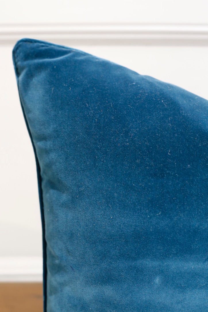 TallBoy Interiors 20inch Cushions- Vintage Teal velvet