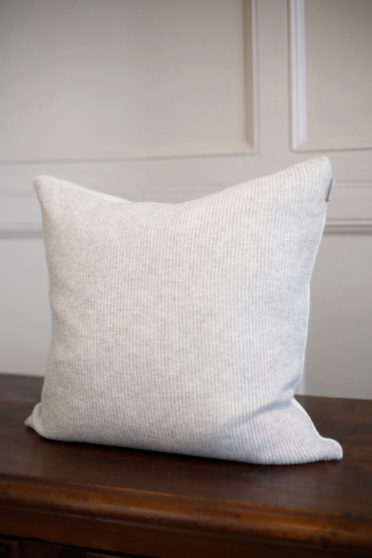 Izu Soft Grey and White striped cushion 20x20inches - TallBoy Interiors