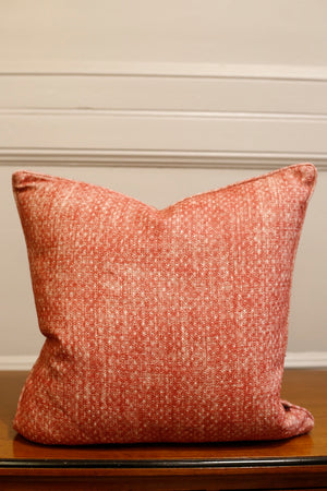 TallBoy Interiors 20inch cushion- Coral linen - TallBoy Interiors