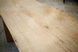 2.6m Live edge sycamore dining table by TallBoy - TallBoy Interiors