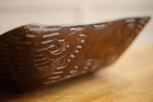 20th century African carved hardwood bowl - TallBoy Interiors