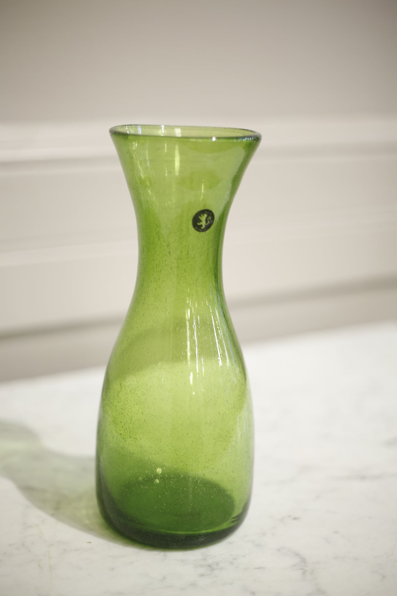 Hand Blown Carafe- Green - TallBoy Interiors