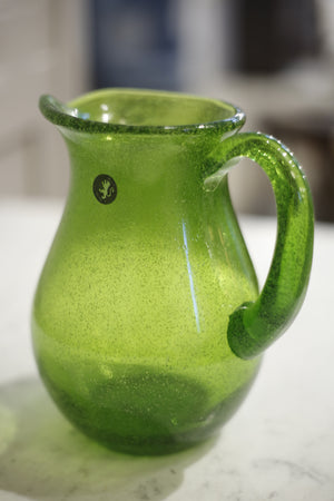 Hand blown Glass jug- Green