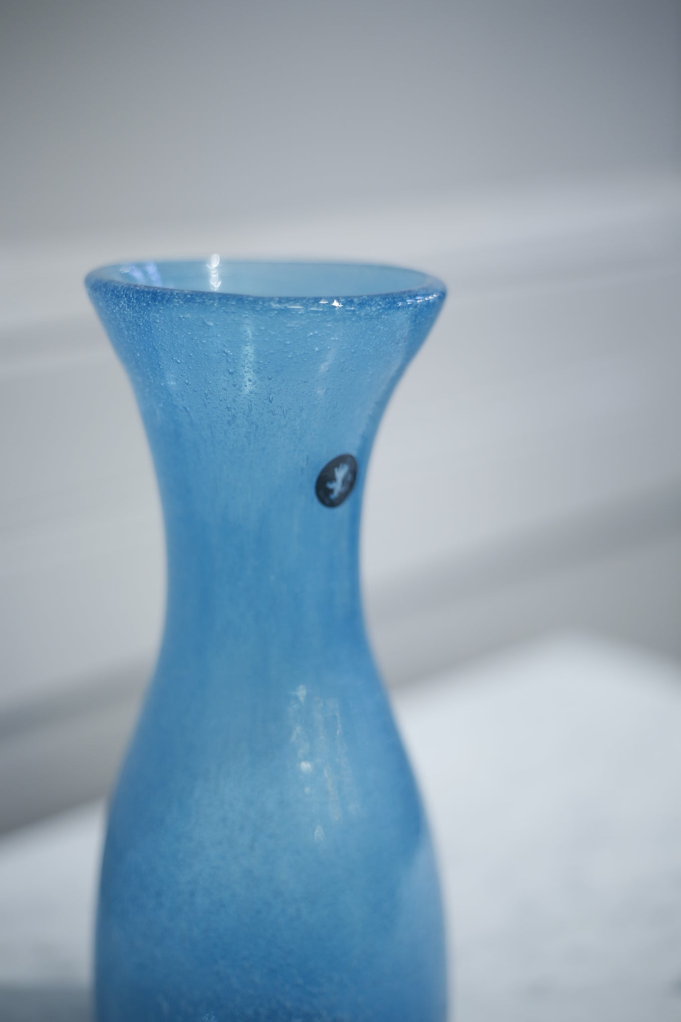 Hand blown carafe- Blue