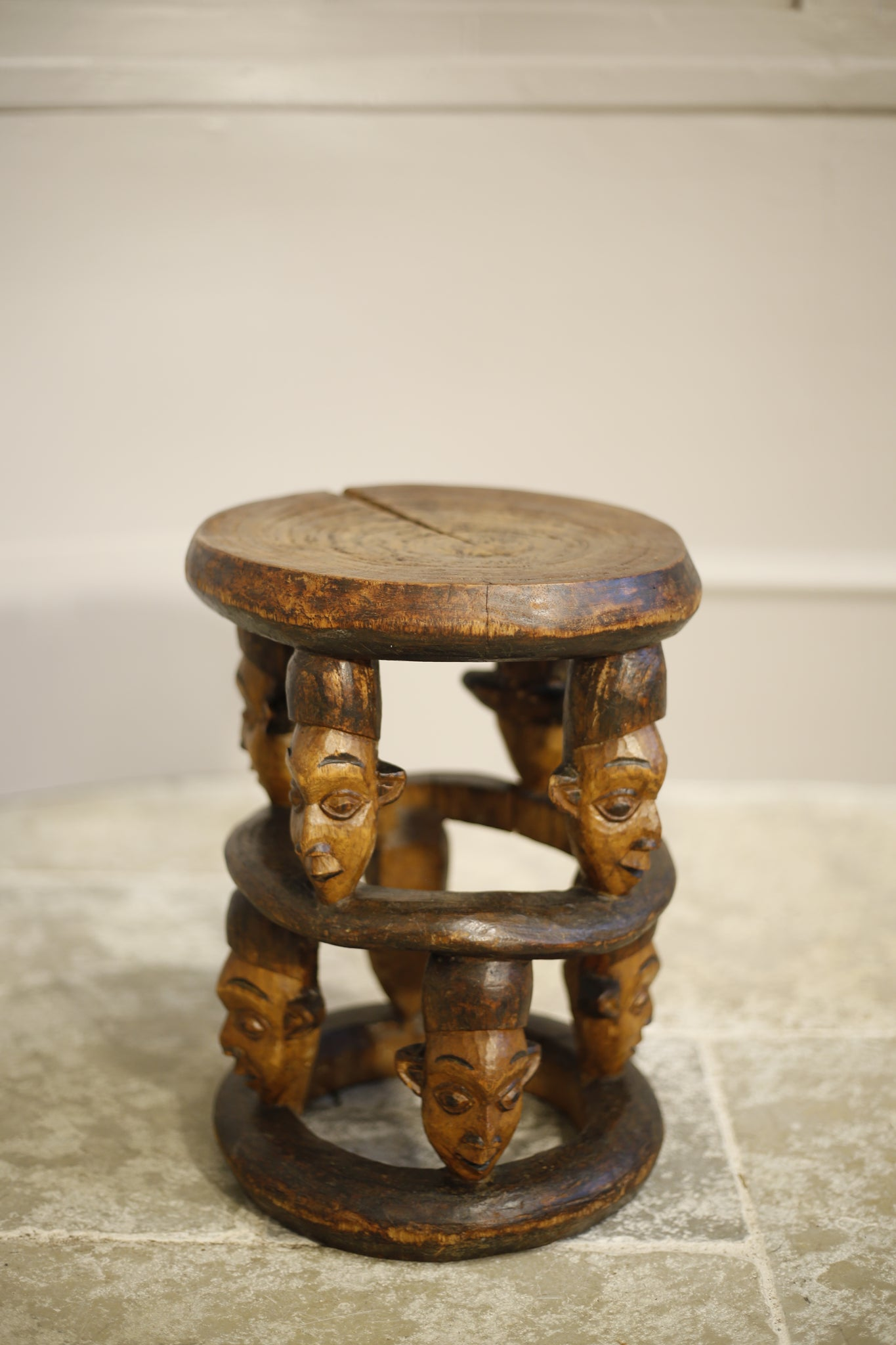 20th century African tribal head side table - TallBoy Interiors