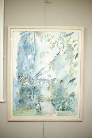 1980's Watercolour painting by Liz Keyworth - TallBoy Interiors