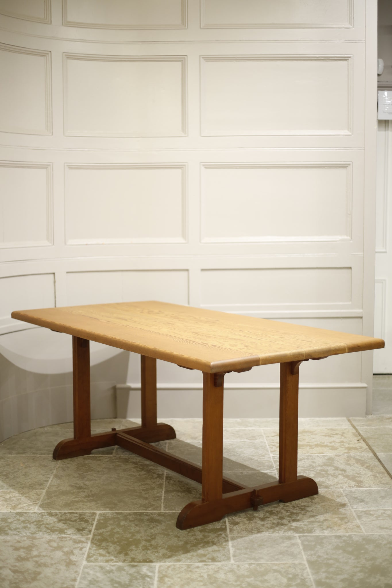Pine Arts and crafts type dining table - TallBoy Interiors