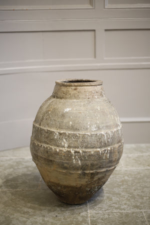 Early 20th century Turkish Olive pot- Grey mottled