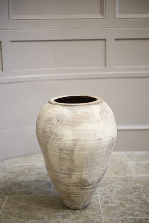 Early 20th century Turkish olive pot- Painted finish