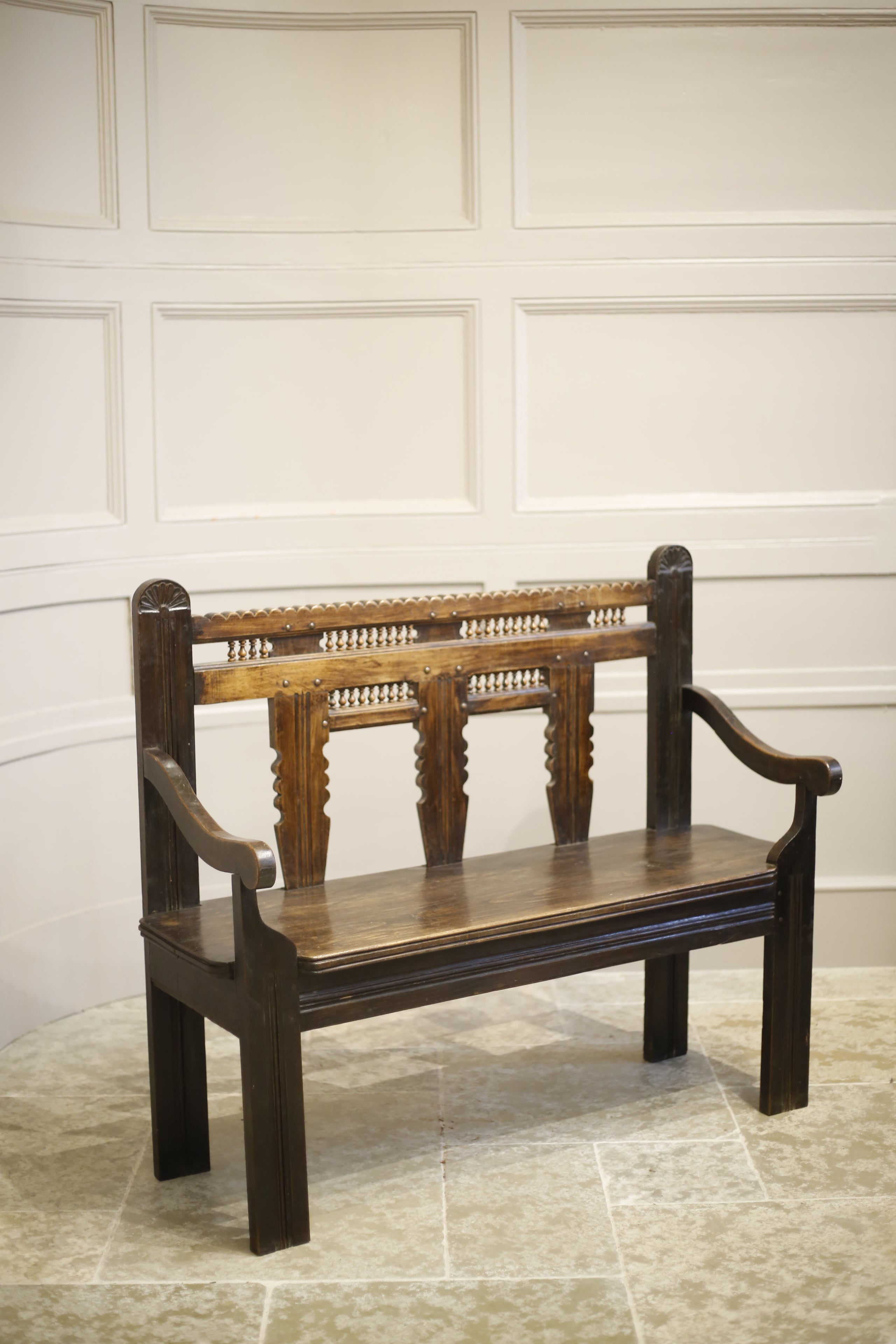 19th Century French Breton Country Bench Tallboy Interiors