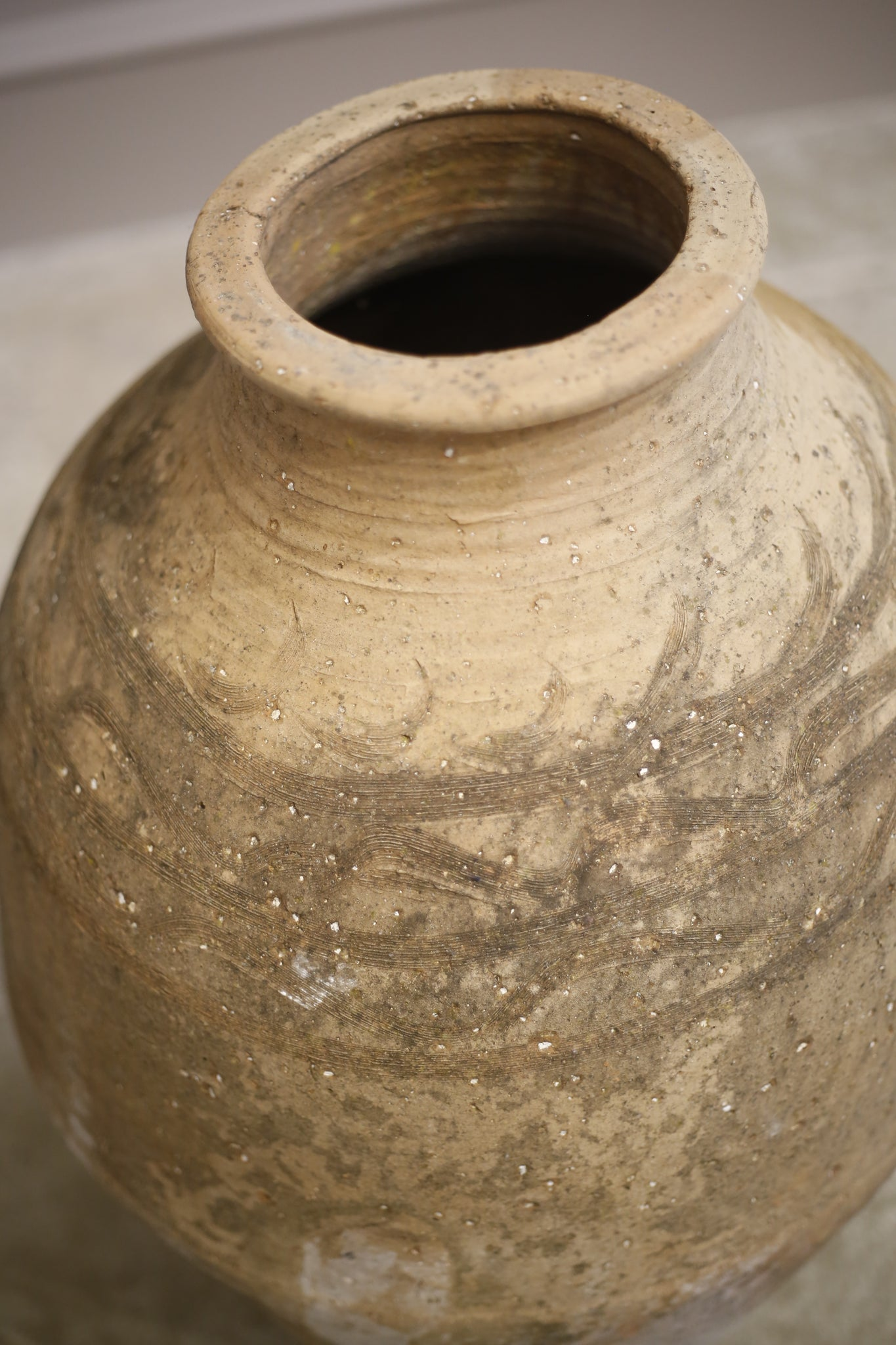 Early 20th century olive pot- Heavy detailed